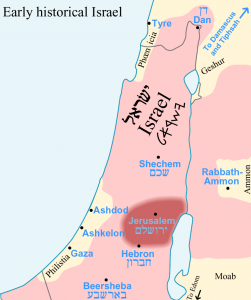 Historical map of Israel